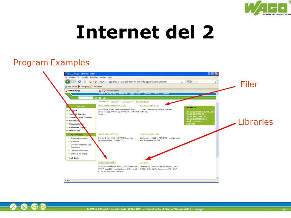 Internet del 2 Program Examples Filer Libraries