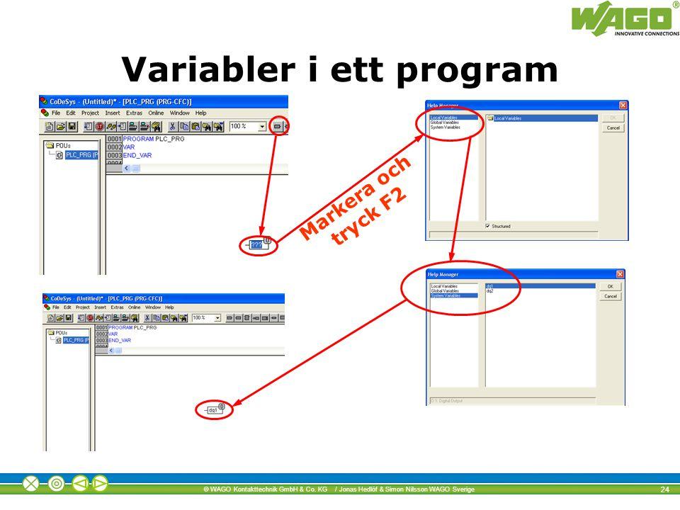 Variabler i ett program