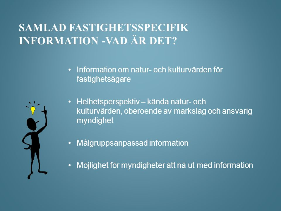 Samlad fastighetsspecifik information -vad är det