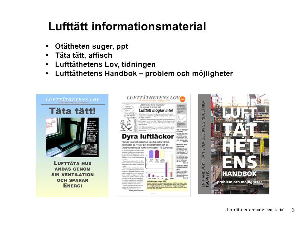 Lufttätt informationsmaterial