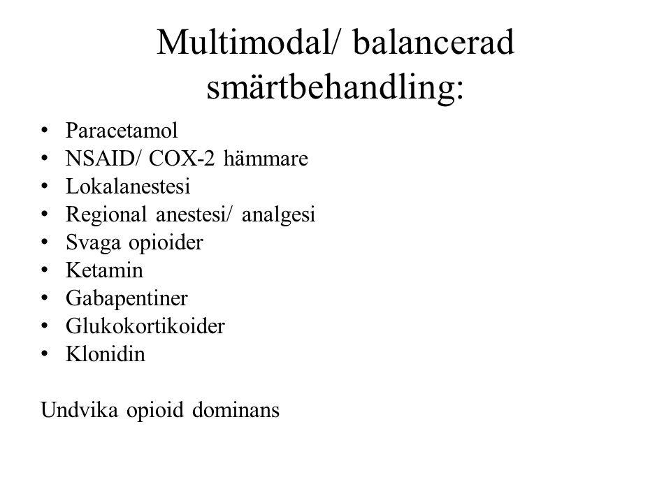 Multimodal/ balancerad smärtbehandling: