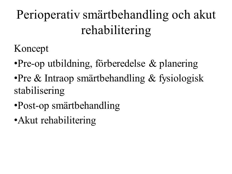 Perioperativ smärtbehandling och akut rehabilitering