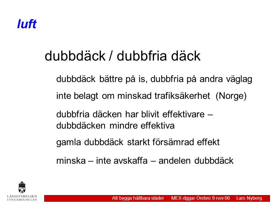 dubbdäck / dubbfria däck
