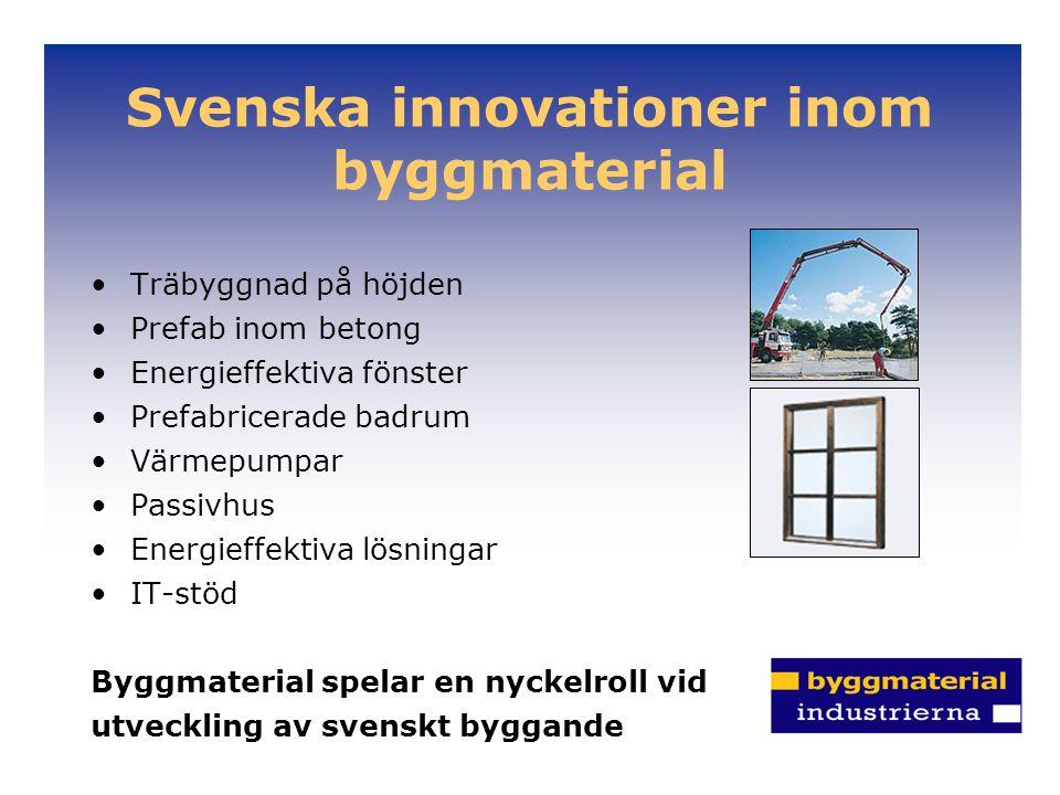 Svenska innovationer inom byggmaterial