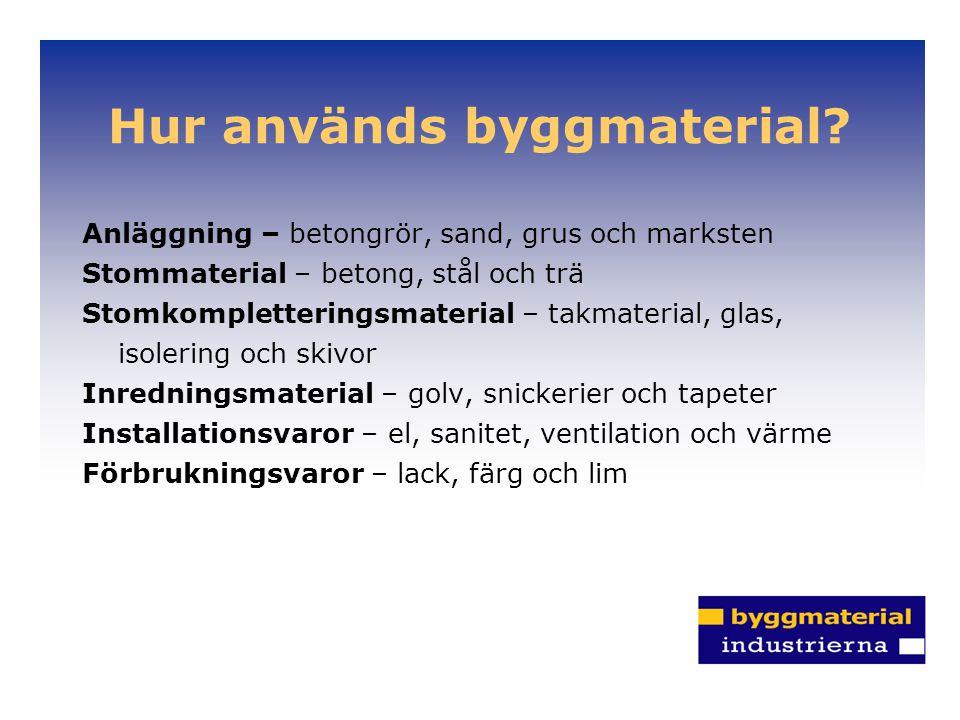 Hur används byggmaterial