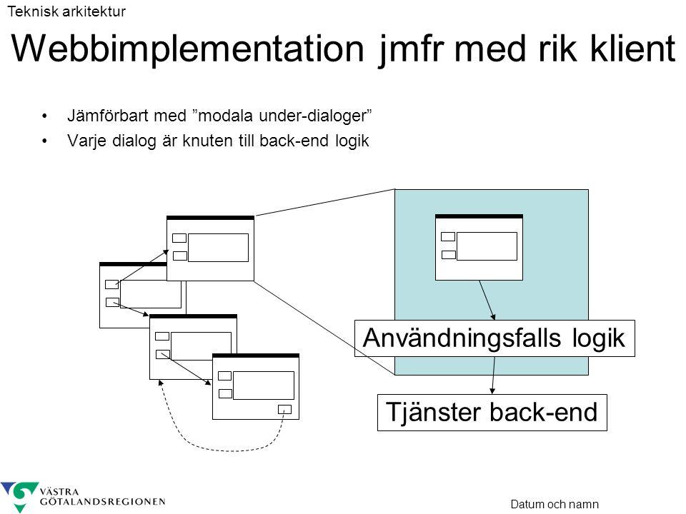 Webbimplementation jmfr med rik klient