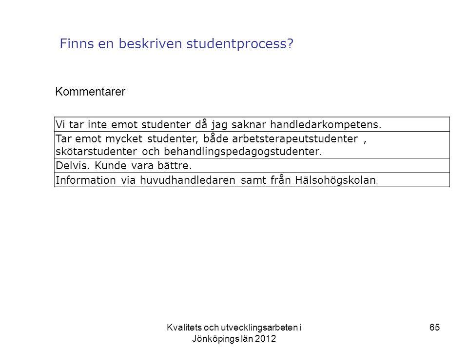 Finns en beskriven studentprocess
