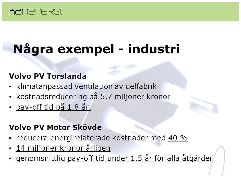 Några exempel - industri