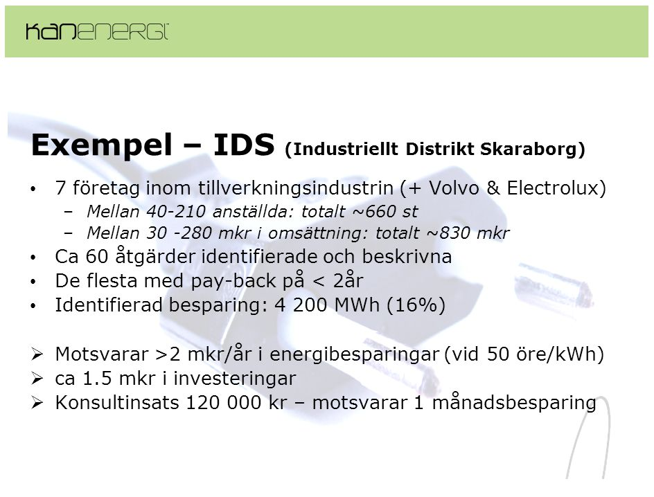 Exempel – IDS (Industriellt Distrikt Skaraborg)