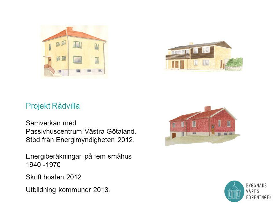 Projekt Rådvilla Samverkan med Passivhuscentrum Västra Götaland