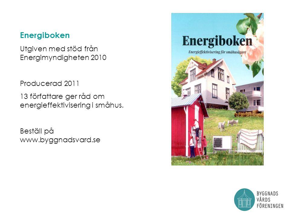 Energiboken Utgiven med stöd från Energimyndigheten 2010