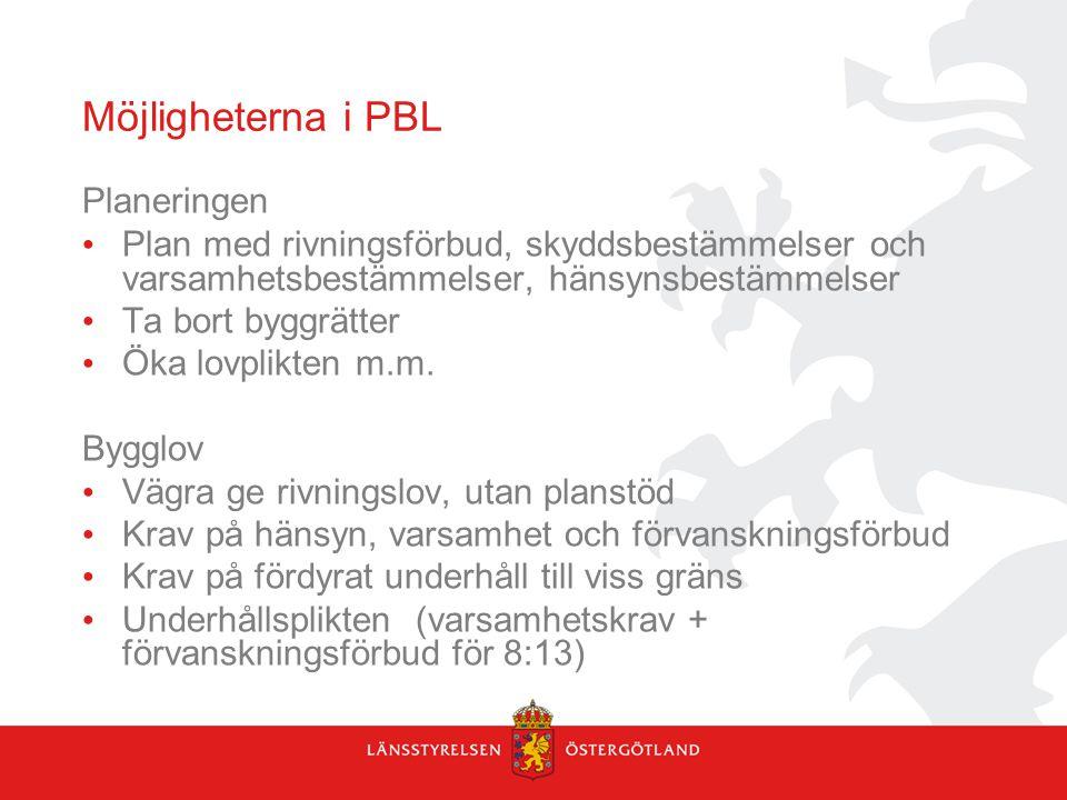 Möjligheterna i PBL Planeringen