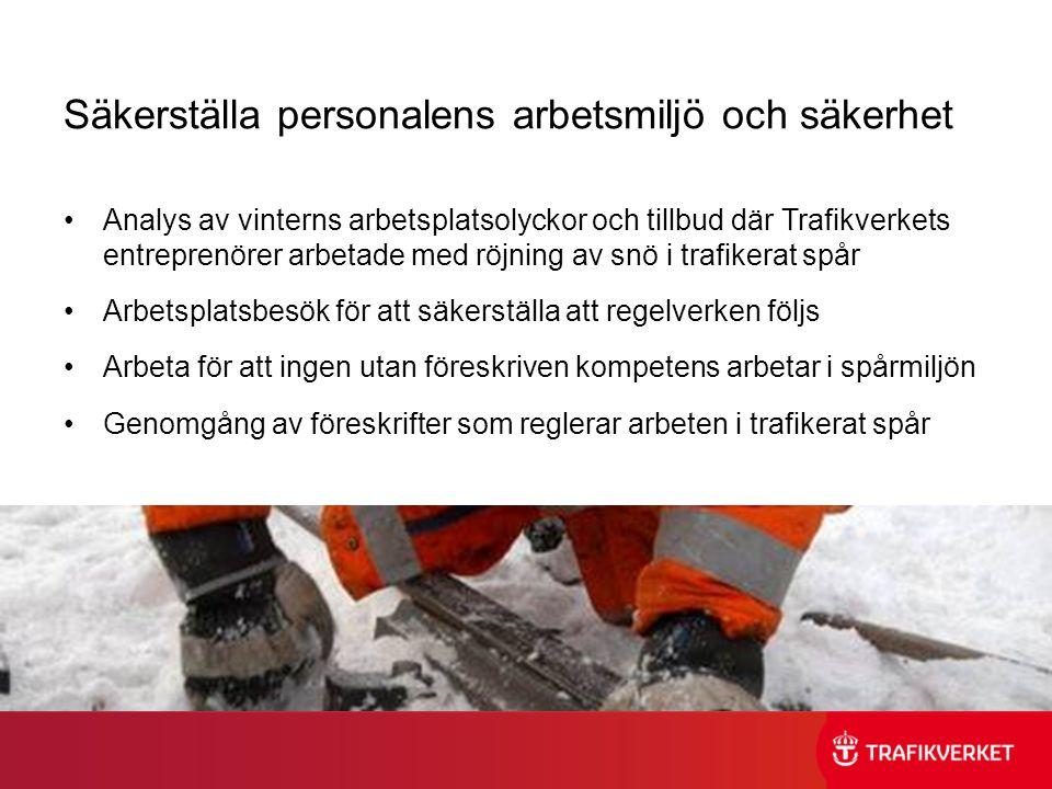 Säkerställa personalens arbetsmiljö och säkerhet