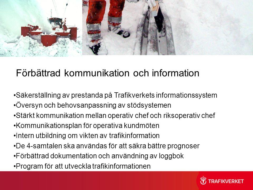 Förbättrad kommunikation och information