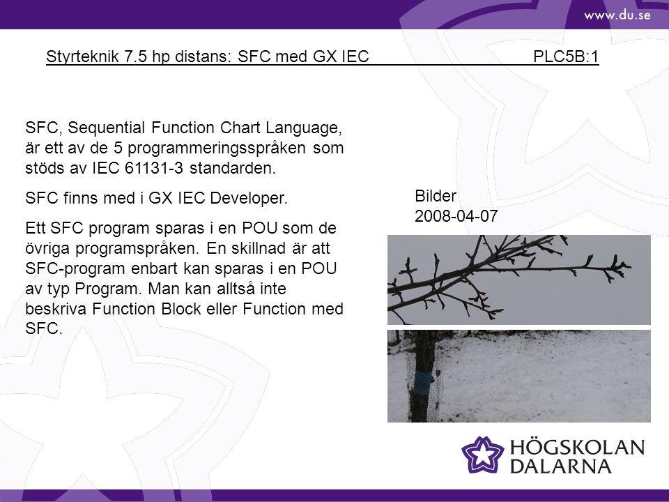 Styrteknik 7.5 hp distans: SFC med GX IEC PLC5B:1