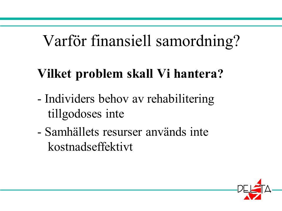 Varför finansiell samordning