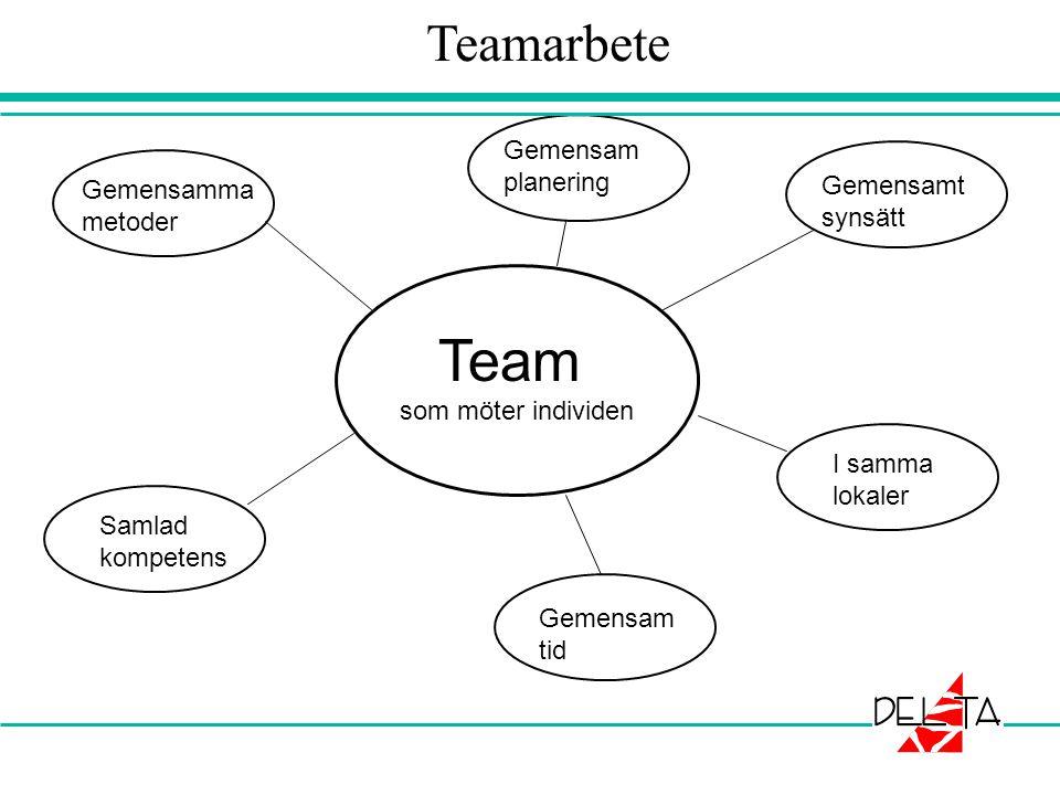 Teamarbete Team Gemensam planering Gemensamt Gemensamma synsätt