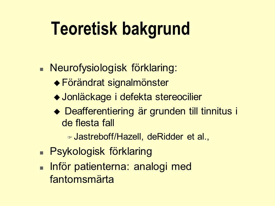Teoretisk bakgrund Neurofysiologisk förklaring: Psykologisk förklaring