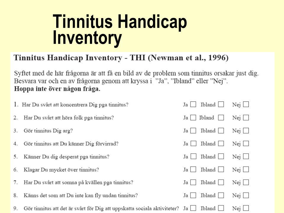 Tinnitus Handicap Inventory