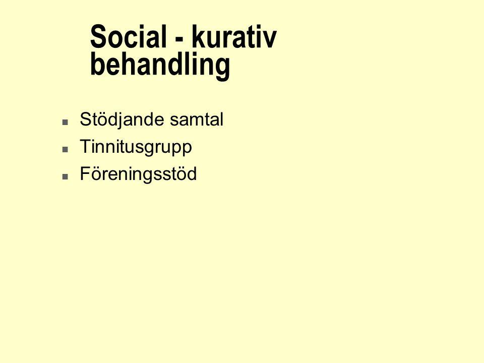 Social - kurativ behandling