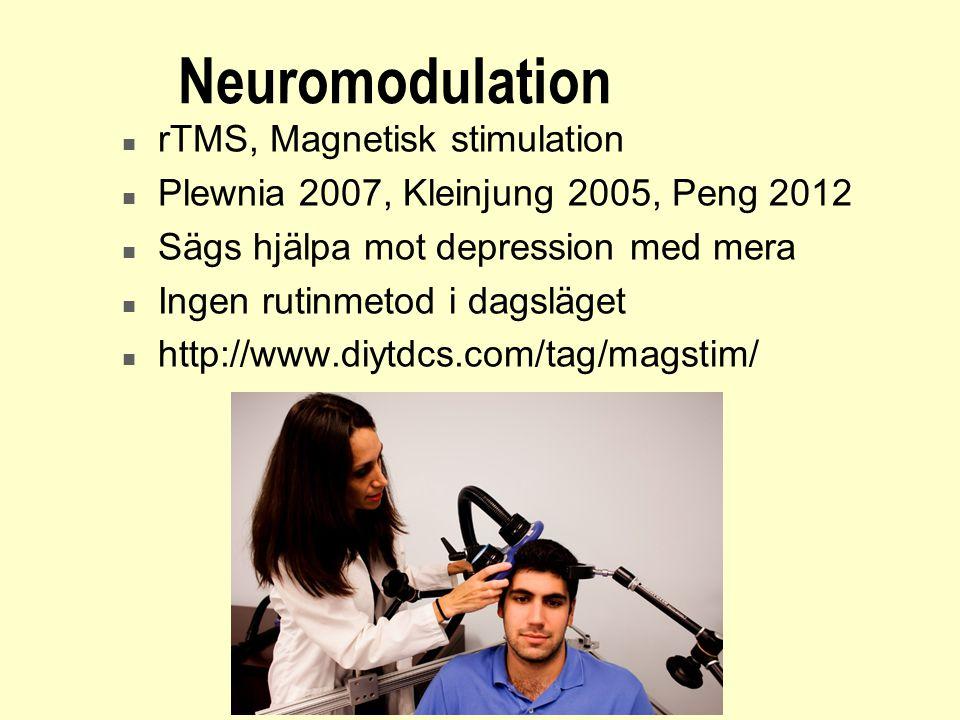 Neuromodulation rTMS, Magnetisk stimulation
