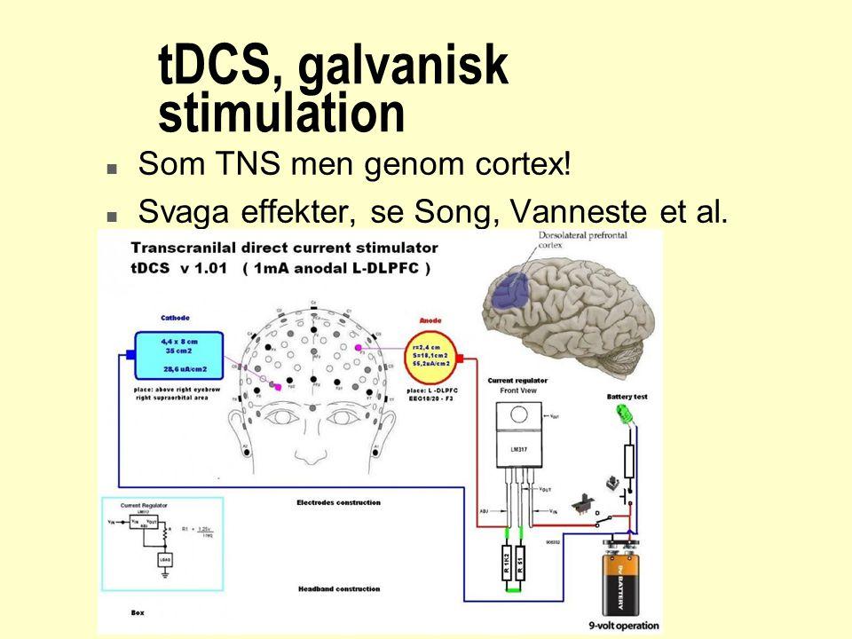 tDCS, galvanisk stimulation