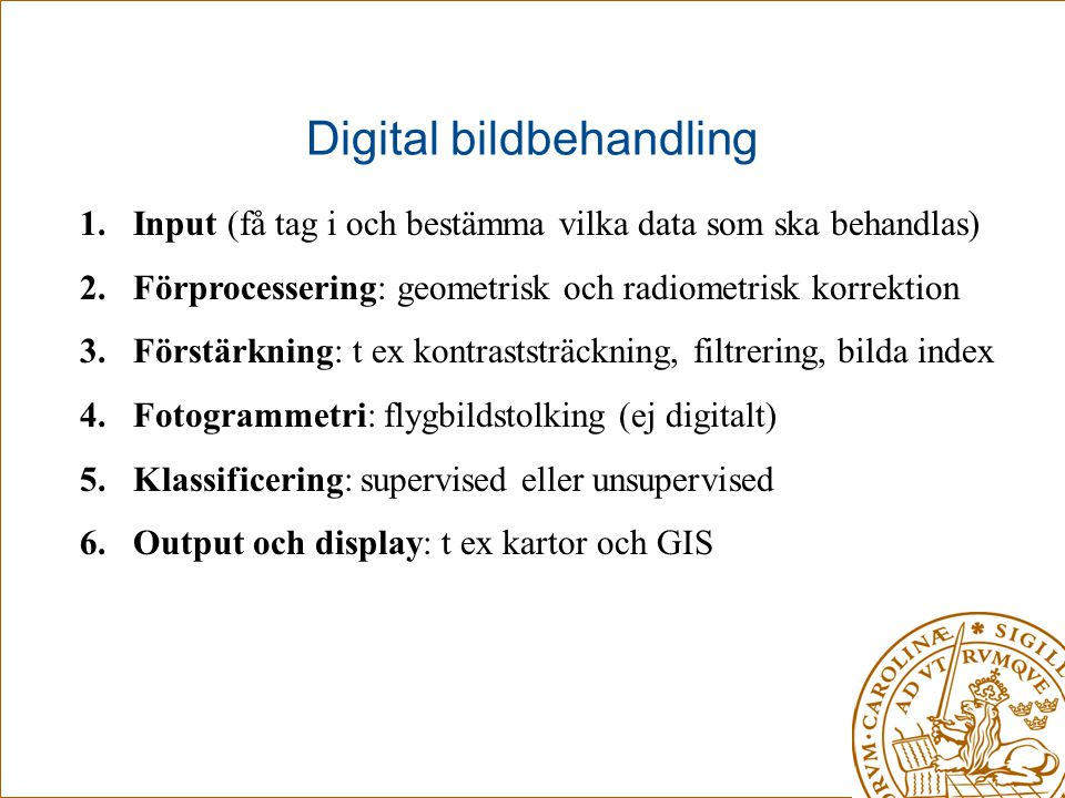 Digital bildbehandling