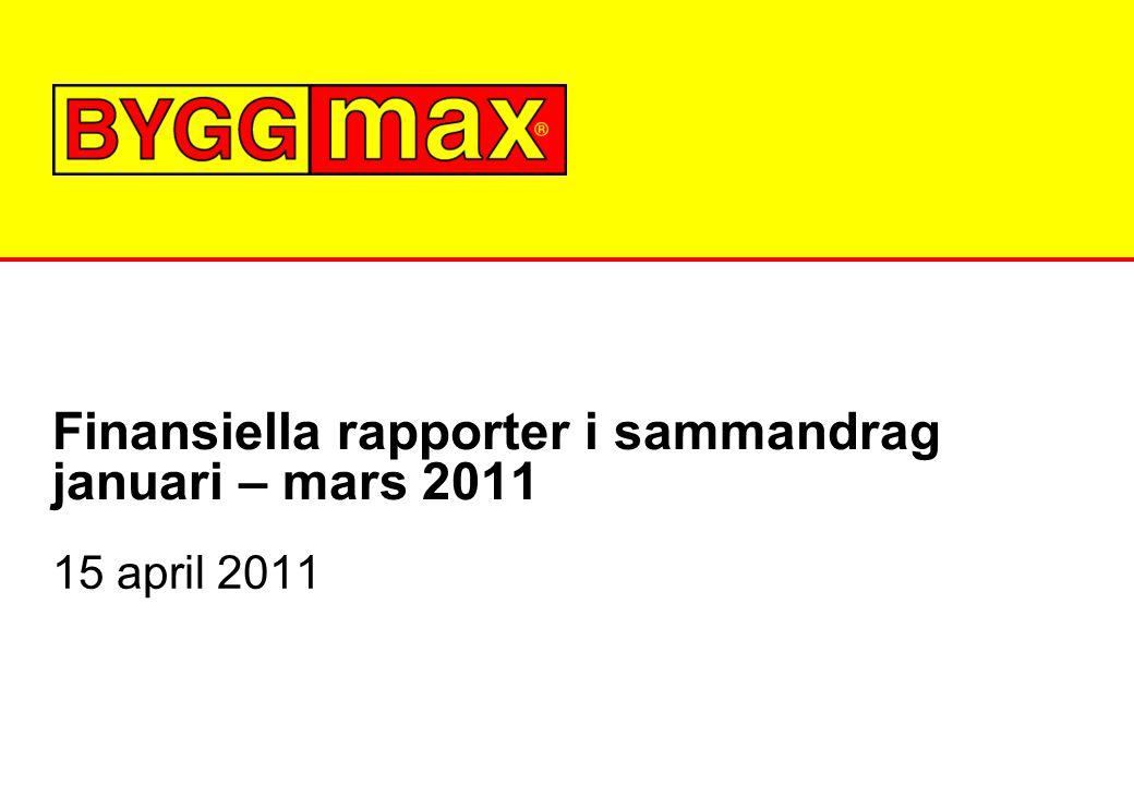 Finansiella rapporter i sammandrag januari – mars 2011