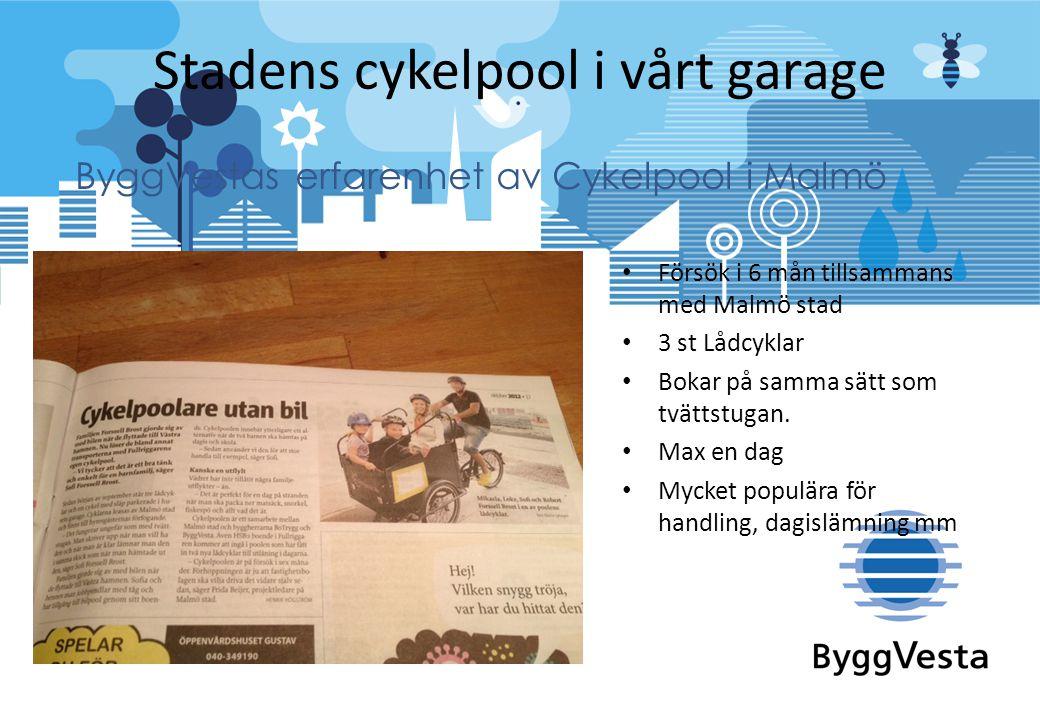 Stadens cykelpool i vårt garage