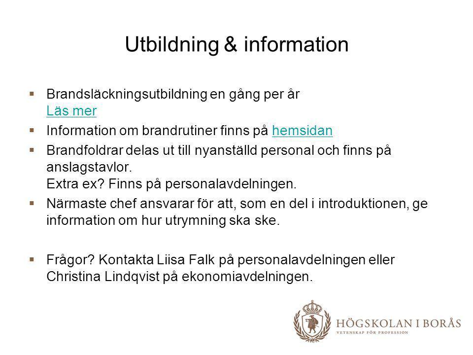 Utbildning & information