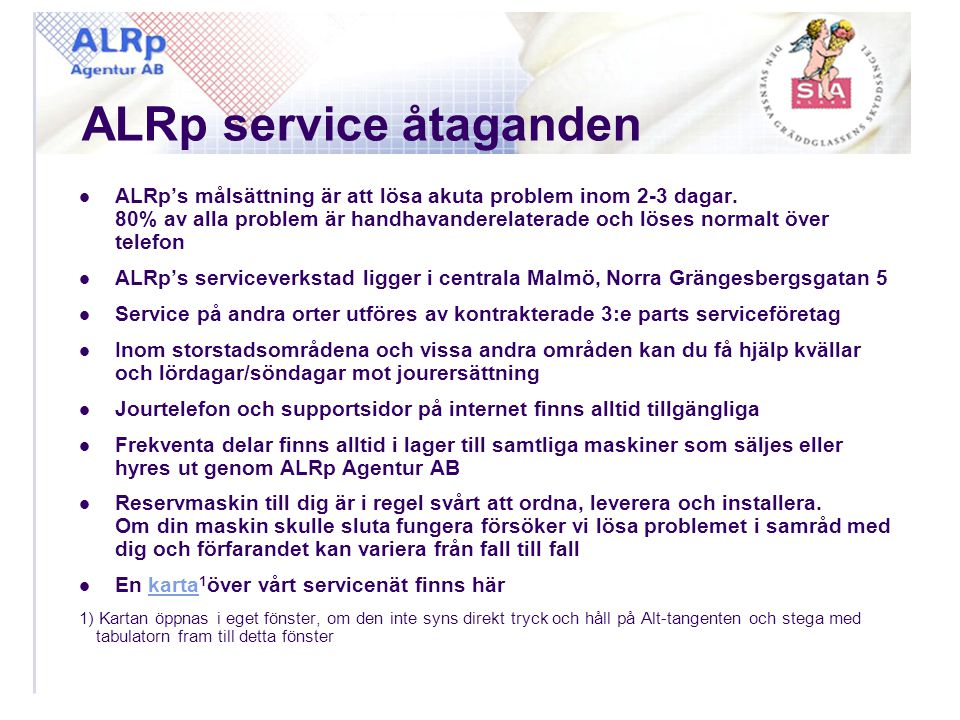ALRp service åtaganden