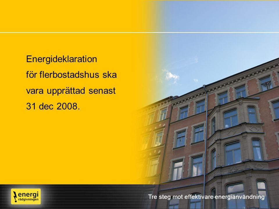 för flerbostadshus ska vara upprättad senast