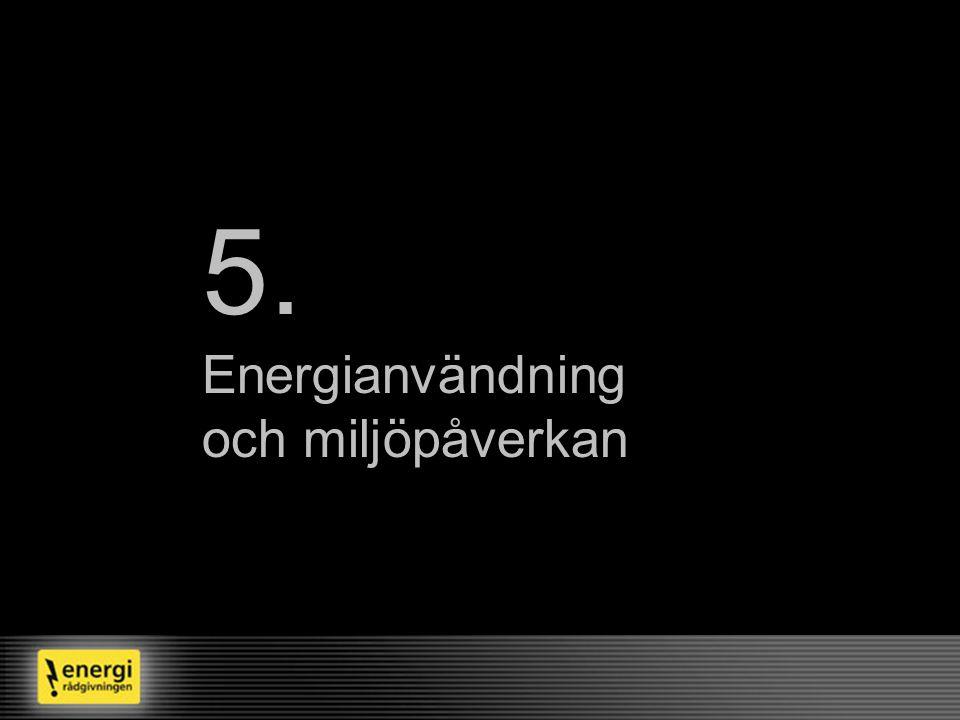 5. Energianvändning och miljöpåverkan