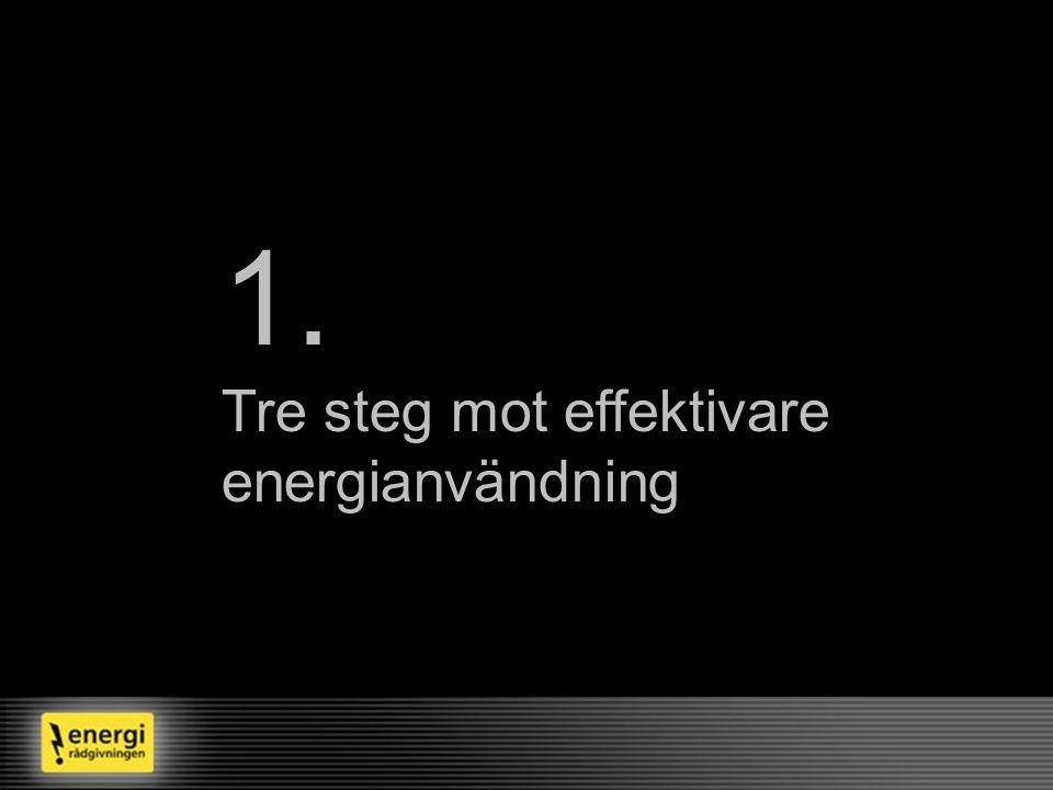1. Tre steg mot effektivare energianvändning Var står vi nu