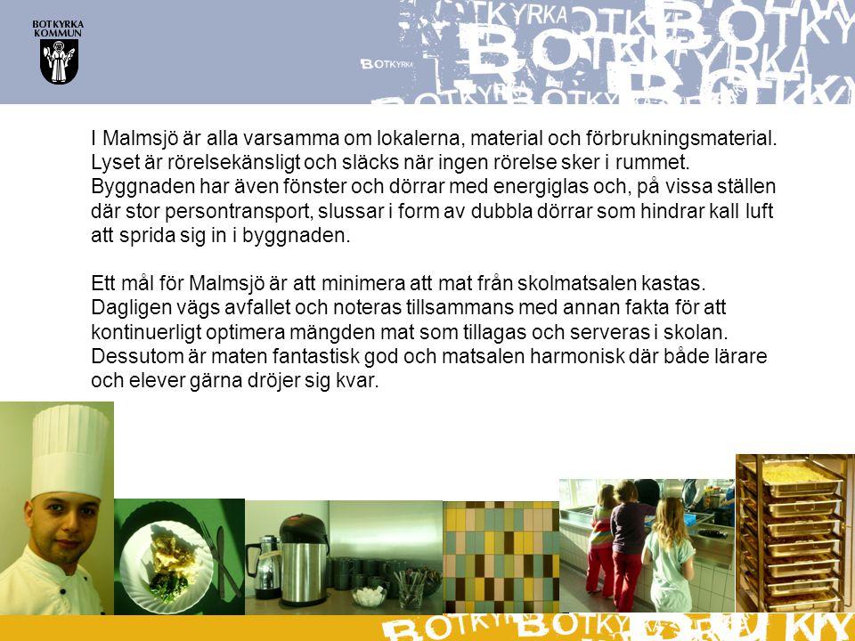 I Malmsjö är alla varsamma om lokalerna, material och förbrukningsmaterial.