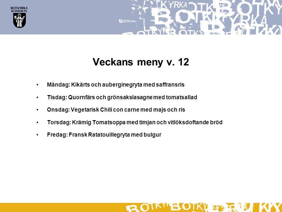 Veckans meny v. 12 Måndag: Kikärts och auberginegryta med saffransris