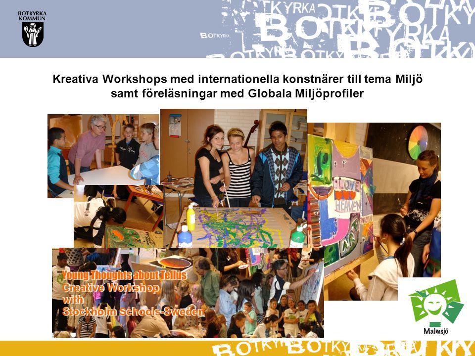 Kreativa Workshops med internationella konstnärer till tema Miljö
