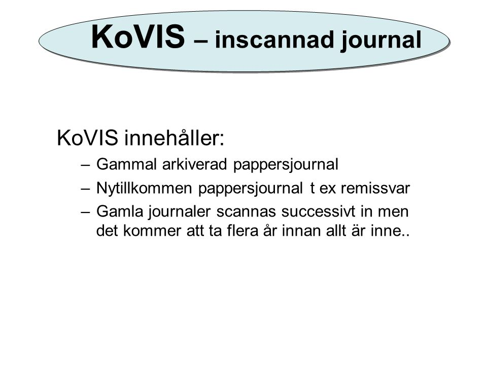 KoVIS – inscannad journal