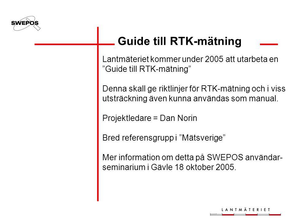 Guide till RTK-mätning