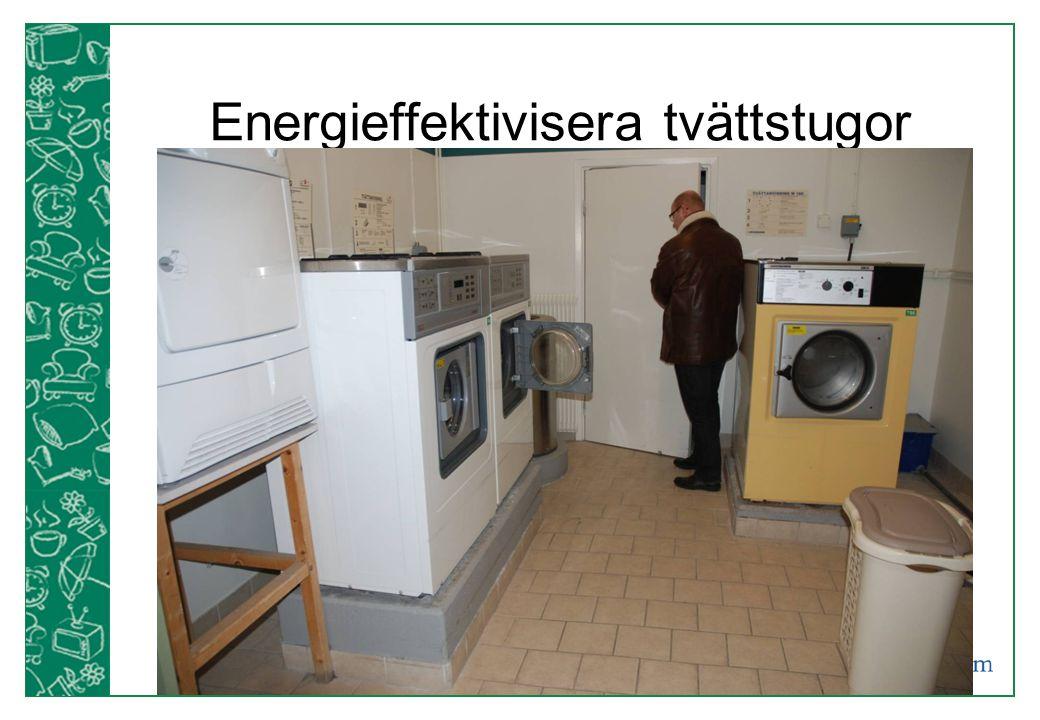 Energieffektivisera tvättstugor