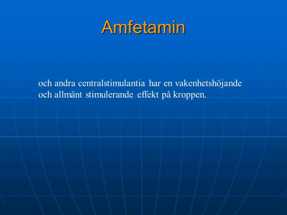 Amfetamin och andra centralstimulantia har en vakenhetshöjande