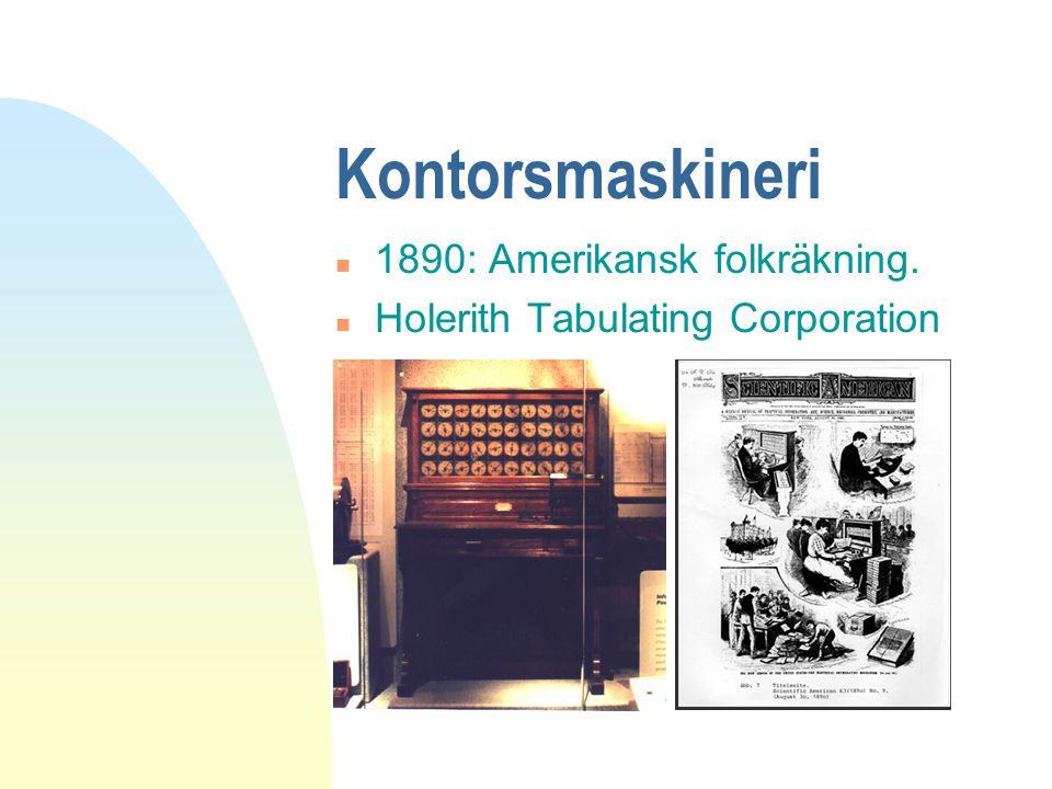 Kontorsmaskineri 1890: Amerikansk folkräkning.