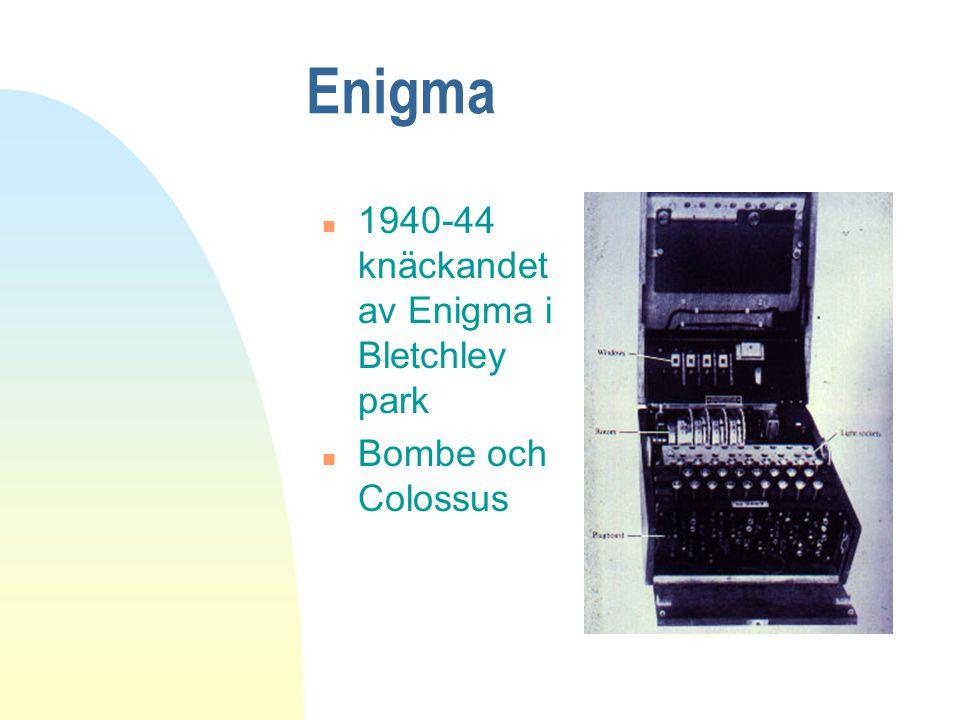 Enigma 1940-44 knäckandet av Enigma i Bletchley park