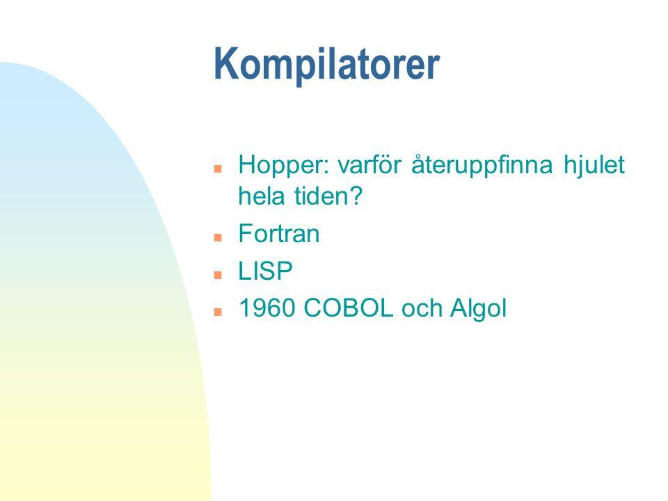 Kompilatorer Hopper: varför återuppfinna hjulet hela tiden Fortran