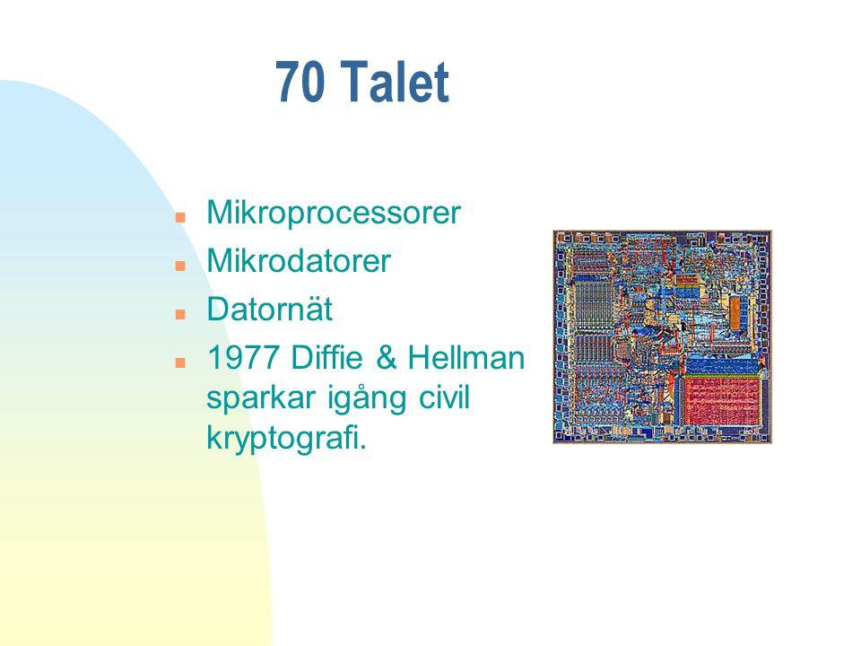 70 Talet Mikroprocessorer Mikrodatorer Datornät