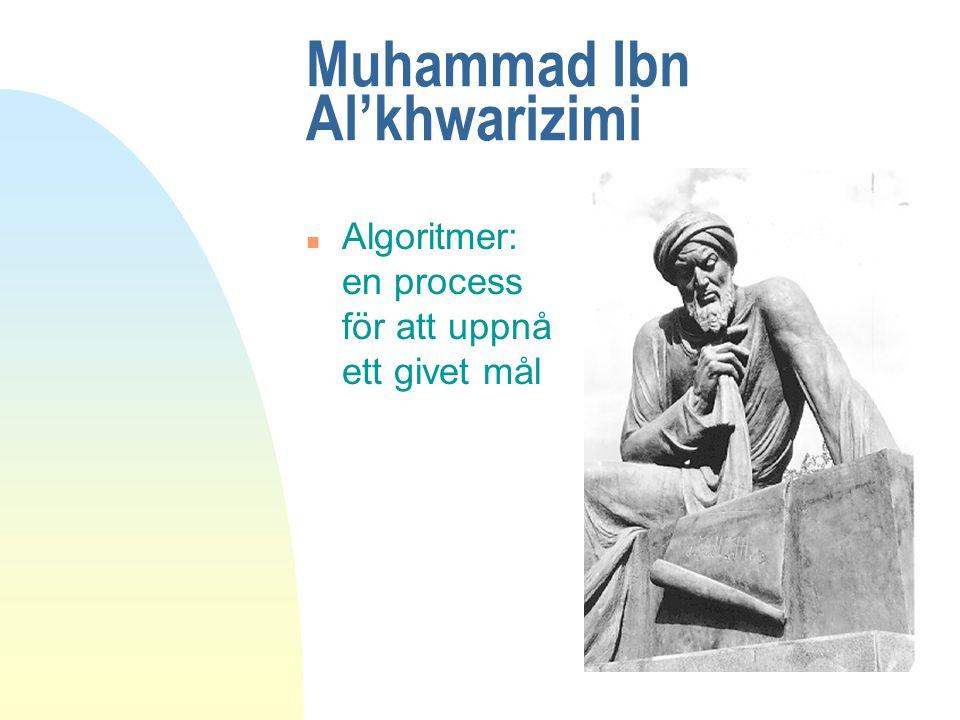 Muhammad Ibn Al'khwarizimi