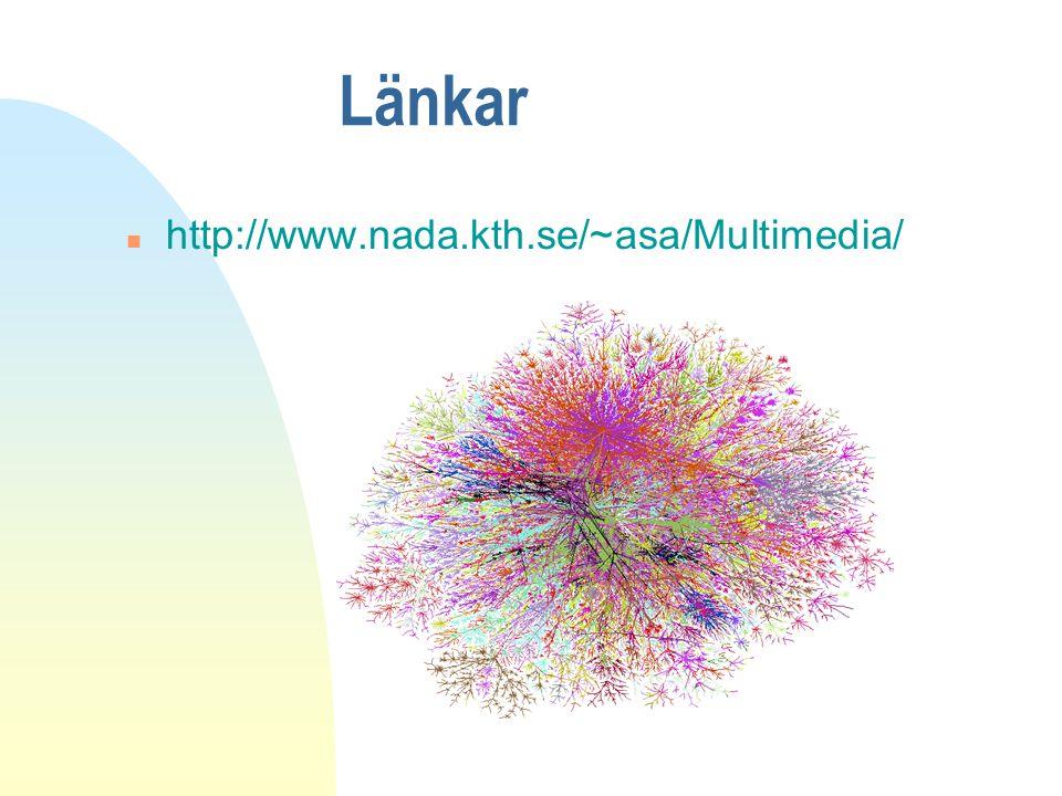 Länkar http://www.nada.kth.se/~asa/Multimedia/
