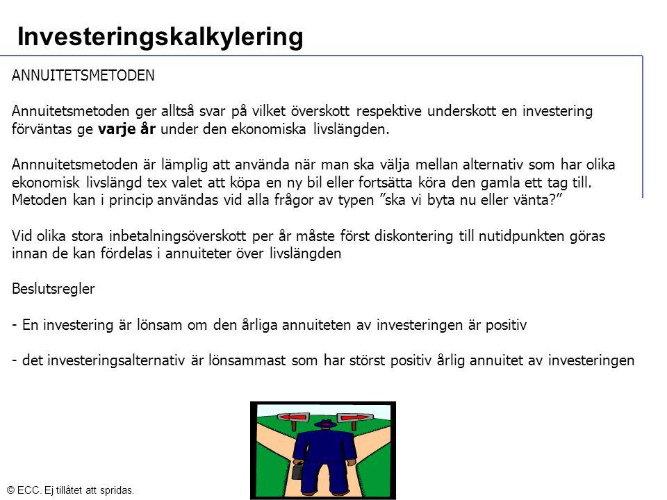 Investeringskalkylering