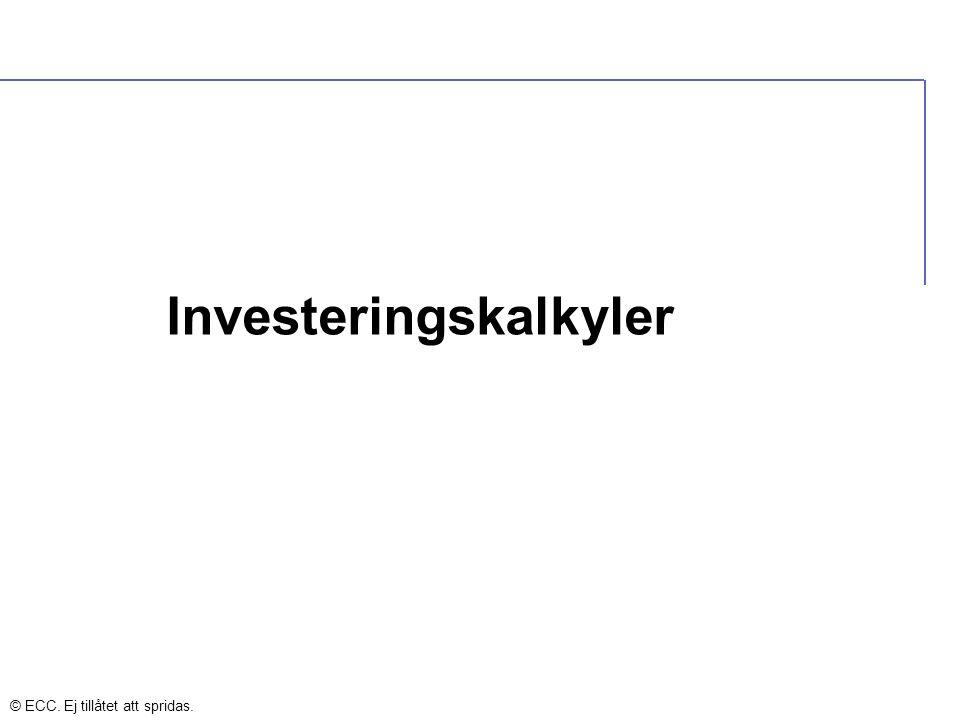 Investeringskalkyler