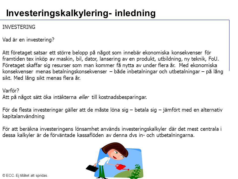 Investeringskalkylering- inledning